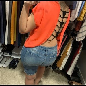 Akira backless top - orange